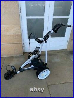 PowaKaddy FW5s GPS White XL Lithium Battery Electric Golf Trolley Ex Rental