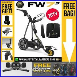 PowaKaddy FW7s Electric Golf Trolley 18 Hole Lithium NEW! 2019