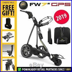 PowaKaddy FW7s GPS 18 Hole Lithium Electric Trolley +FREE GIFT