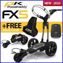 PowaKaddy FX5 Gun Metal Electric Golf Trolley 18 Lithium NEW! 2020 +FREE BAG