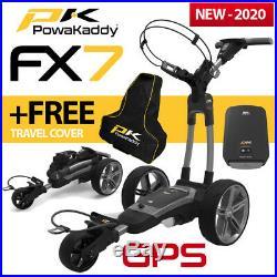 PowaKaddy FX7 GPS Gun Metal Electric Golf Trolley 18 Lithium 2020 +FREE BAG