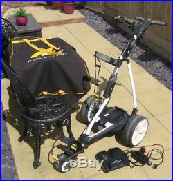 Powacaddy FW5 golf trolley with 18 hole lithium battery
