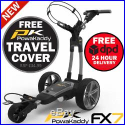 Powakaddy 2020 Fx7 36 Hole Lithium Golf Trolley +free £34.99 Travel Cover