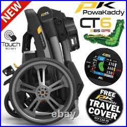 Powakaddy 2021 Ct6 Gps Ebs 18 Hole Lithium Golf Trolley +free Travel Cover