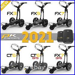 Powakaddy 2021 Electric Golf Trolley Range Fx3, Fx5, Fx7, Fx7 Gps, Ct6 & Ct6 Gps