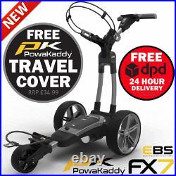 Powakaddy 2021 Fx7 Ebs 36 Hole Lithium Golf Trolley +free £34.99 Travel Cover