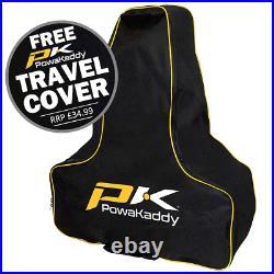 Powakaddy 2021 Fx7 Gps Ebs 36 Hole Lithium Golf Trolley +free Travel Cover
