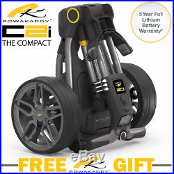 Powakaddy C2i Compact 2018 Electric Golf Trolley +All Battery Options +FREE GIFT