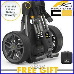 Powakaddy C2i Electric Golf Trolley 18 Hole Lithium Battery (Gunmetal)