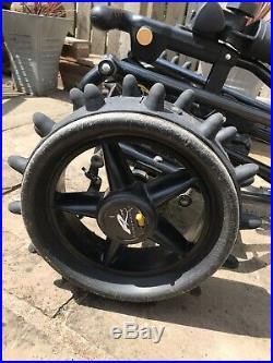 Powakaddy Compact Electric Trolley With New Lithium Battery Winter Alloy Wheels