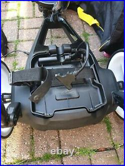 Powakaddy FW3 electric Golf Trolley in Black, 18-27 hole Lithium battery charger