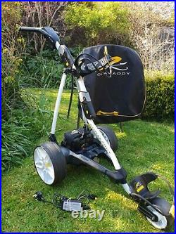 Powakaddy FW3 electric Golf Trolley in White, Lithium battery, Charger, Carry Bag