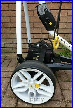 Powakaddy FW3 electric Golf Trolley in White, XL Lithium battery & Charger