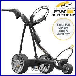 Powakaddy FW3s 2018 Black Electric Golf Trolley / All Battery Options +Free Gift