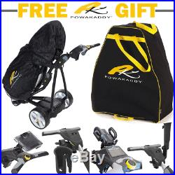 Powakaddy FW3s 2018 White Electric Golf Trolley / All Battery Options +Free Gift