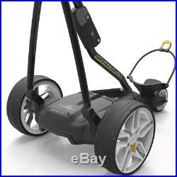 Powakaddy FW3s Black Electric Golf Trolley +18 Hole Lithium Battery +Free Gift