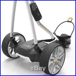 Powakaddy FW3s White Electric Golf Trolley +18 Hole Lithium Battery +Free Gift