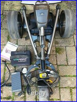 Powakaddy FW7S EBS Electric Golf Trolley, Brand New Lithium Battery and Charger