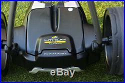 Powakaddy FW7s GPS, Electric Golf Trolley XL Lithium Battery + Extras