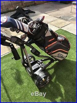 Powakaddy FW7s GPS Golf Trolley +18 Hole Lithium Battery- Tiestlist Bag 2019