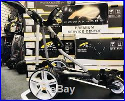 Powakaddy Fw7 Ebs 18 Hole Lithium Electric Golf Trolley New Wheels 24hr Delivery