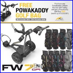 Powakaddy Fw7s Gps 2018 New Electric Golf Trolley 36 Hole Lithium Battery 24hr