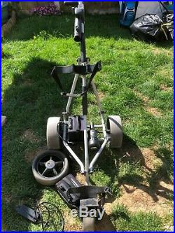 Powakaddy freeway electric golf trolley with lithium batteries, charger & spare