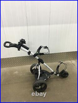 Powerbug Pro Tour Lithium Powered Electric Golf Trolley In White
