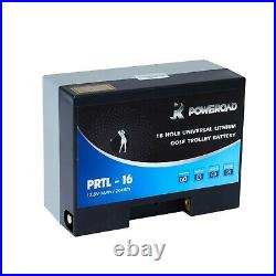 Poweroad 9 -18 Hole Lithium Golf Trolley Battery, Charger & lead. Fits Powercaddy