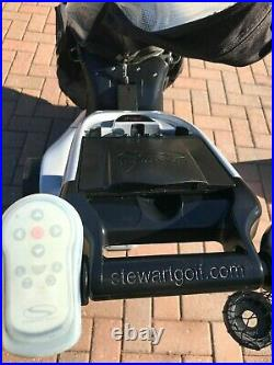 Stewart Golf X3r Remote Golf Trolley Silver Vgc New Lithium Battery