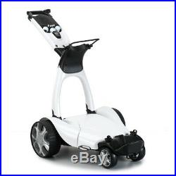 Stewart X9 Follow Electric Golf Push Cart Lithium Golf Trolley Silver, New
