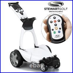 Stewart X9 Follow Remote Control Golf Trolley / White +free Gift 4 Week Preorder