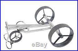Tour Made Haicaddy Travel PRO Edelstahl Lithium Elektro Golftrolley sehr kompakt