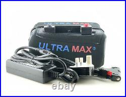 ULTRAMAX 18AMPS Lithium golf trolley battery 12V 18-27 Hole LiFePO4 WITH CHARGER